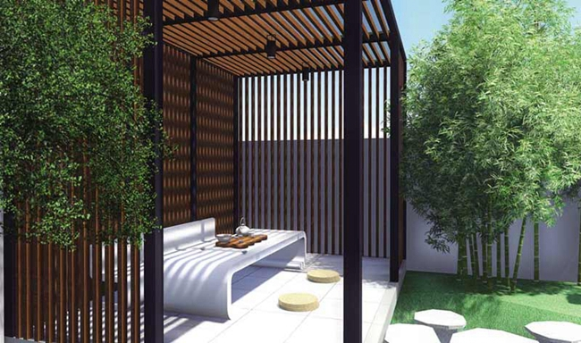 庭院廊架 (3)